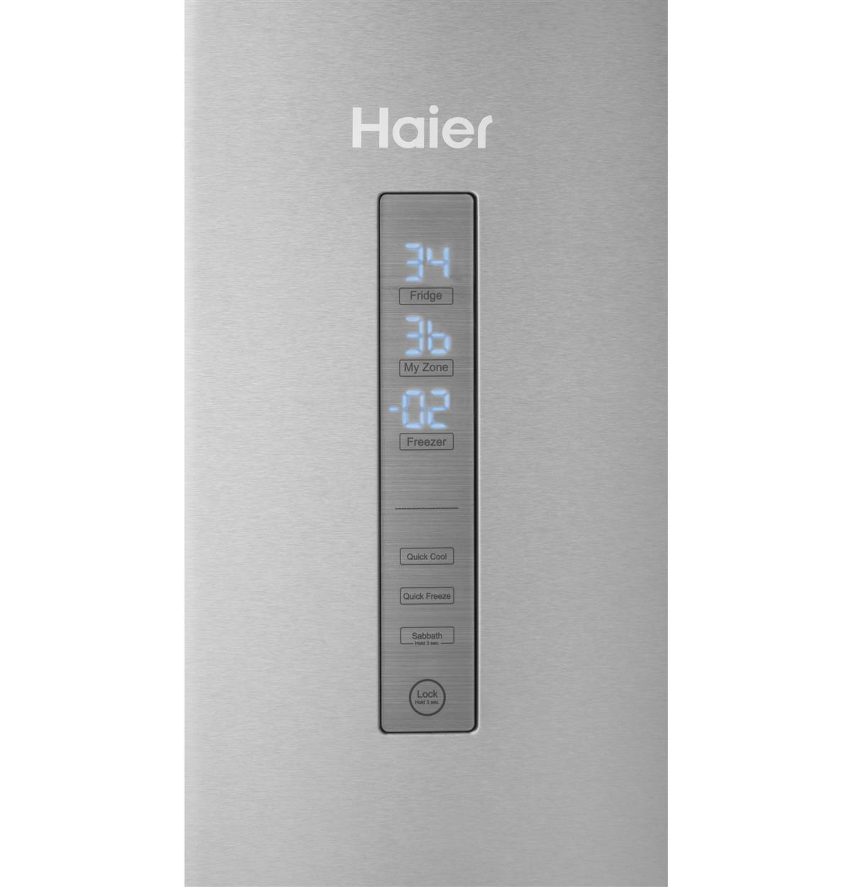 Stainless Bottom-Freezer HRB15N3BGS Control Panel