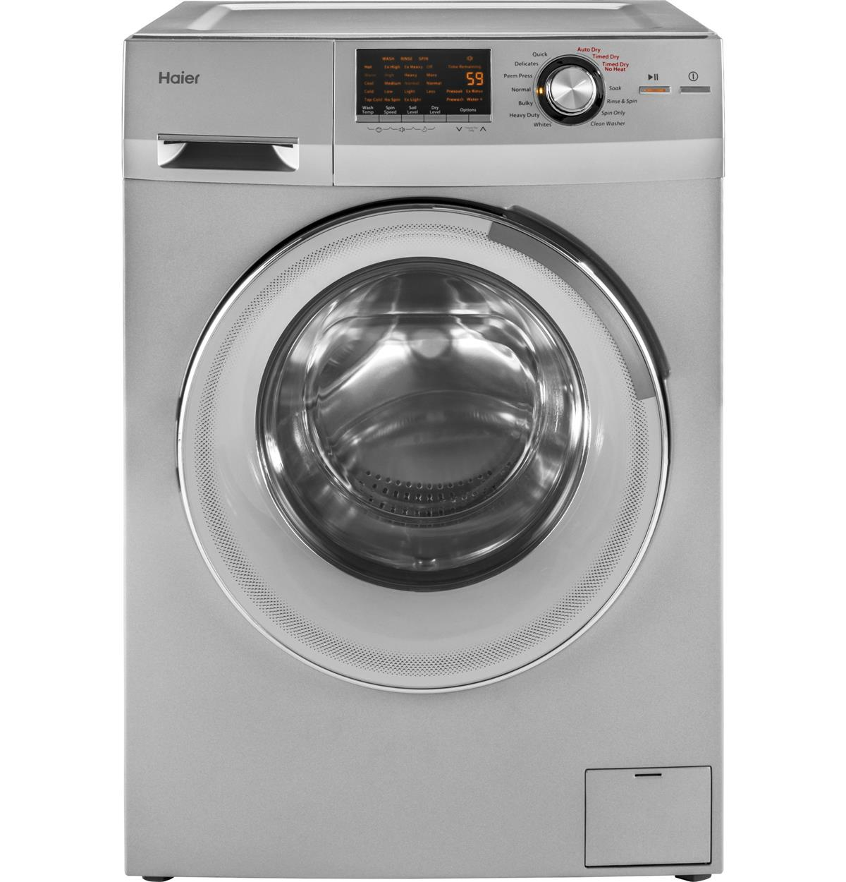 Silver Unitized Spacemaker Washer & Dryers HLC1700AXS Un-installed/free-standing