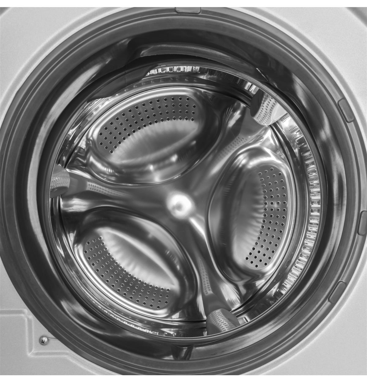 Silver Unitized Spacemaker Washer & Dryers HLC1700AXS Feature Photos