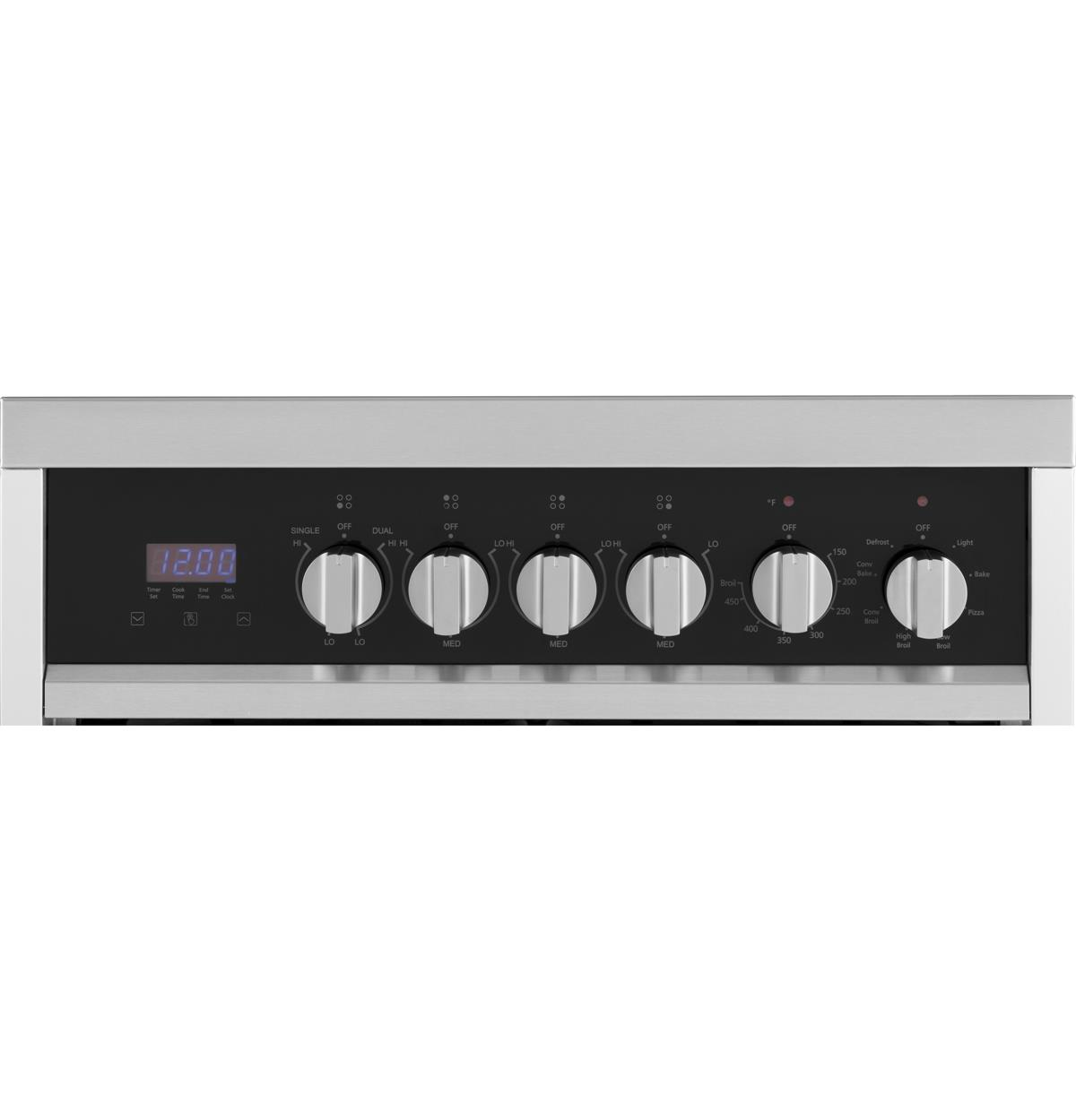 Stainless Free Standing Ranges HCR2250AES Control Panel