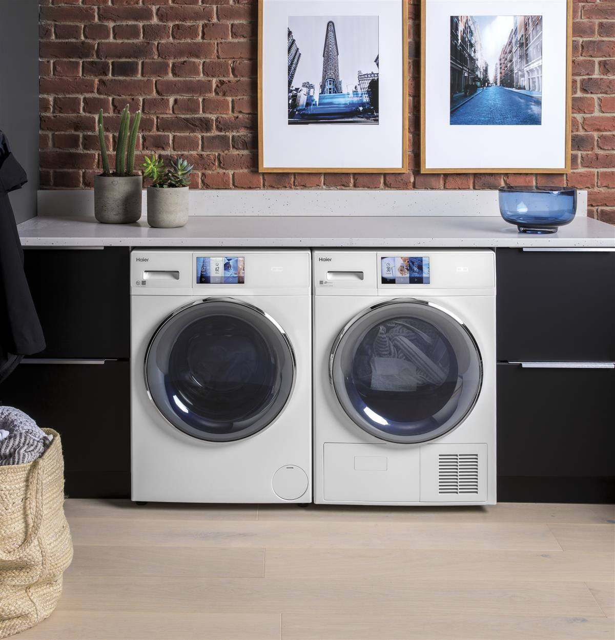 Unique size for installation flexibility and large capacity to do laundry less often