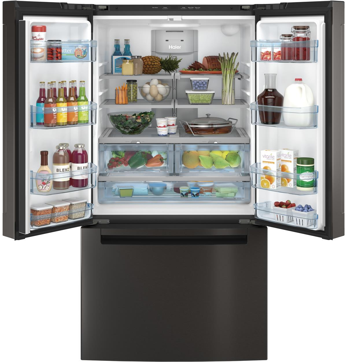 Black Stainless Bottom-Freezer QNE27JBMTS Un-installed/free-standing