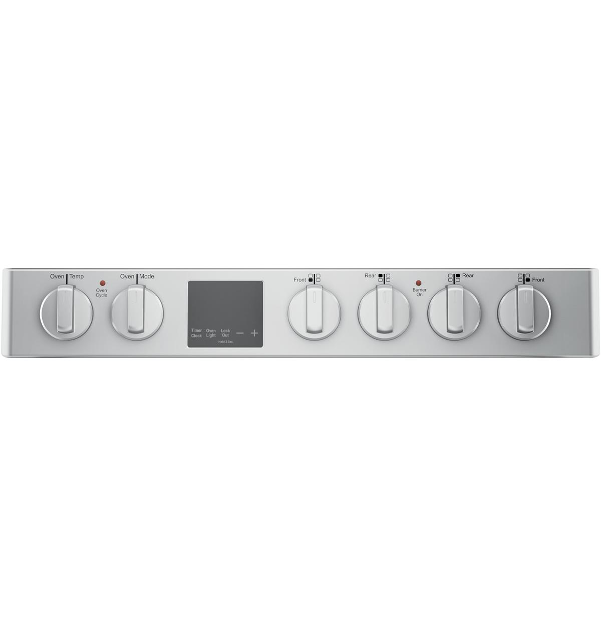 Stainless Free Standing Ranges QAS740RMSS Control Panel