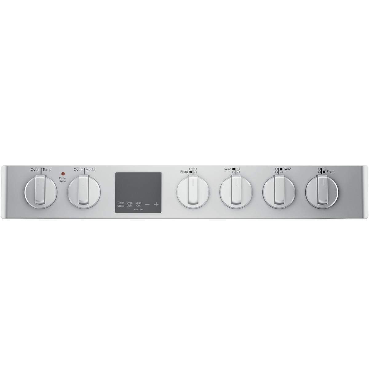 Stainless Free-Standing Ranges QGAS740RMSS Control Panel