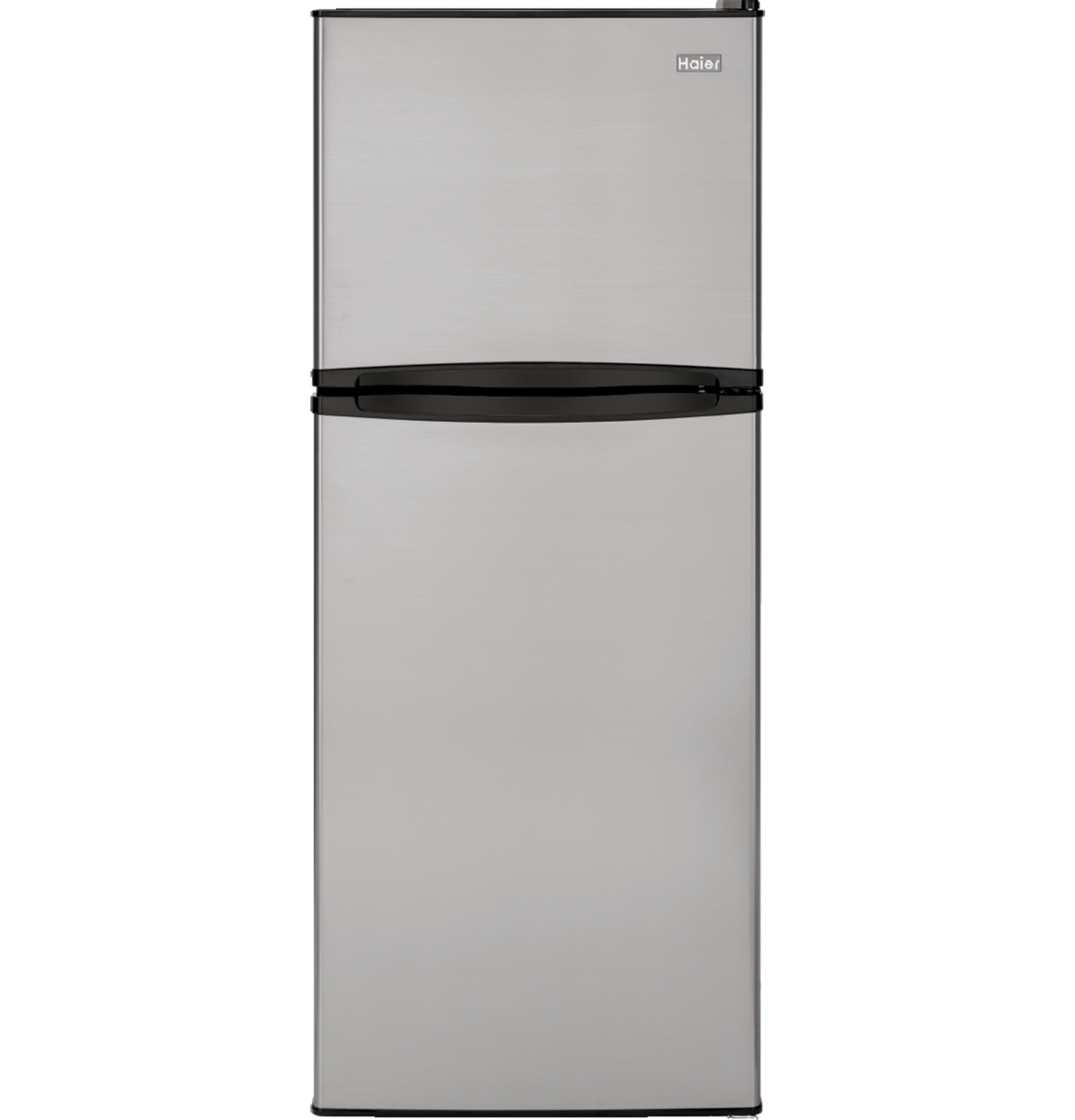 Ha10tg21ss 98 Cu Ft Top Freezer Refrigerator Haier Appliances Air Conditioner Wiring Diagram Stainless Un Installed Free Standing