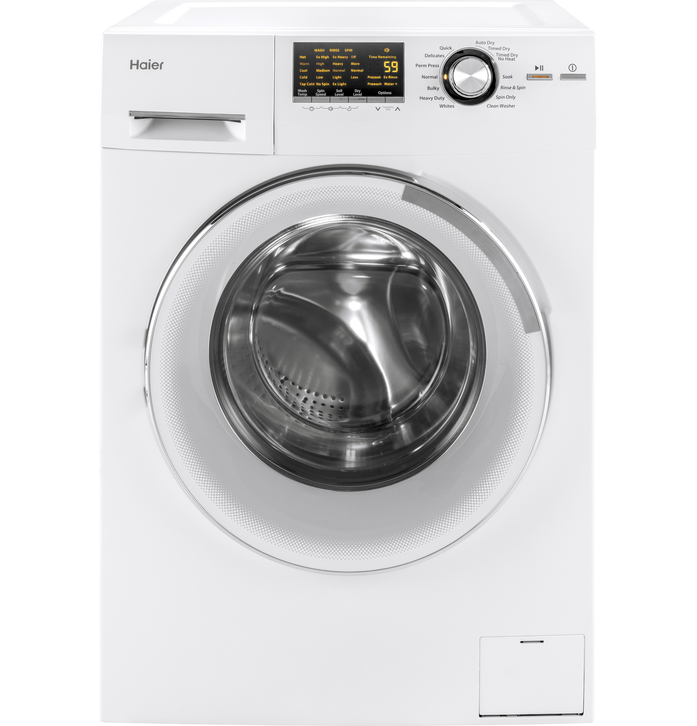 White Unitized Spacemaker Washer & Dryers HLC1700AXW  Un-installed/free-standing
