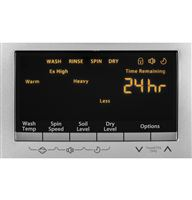 Silver Unitized Spacemaker Washer & Dryers HLC1700AXS Control Panel